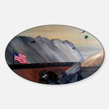 brother in arms poster Sticker (Oval)