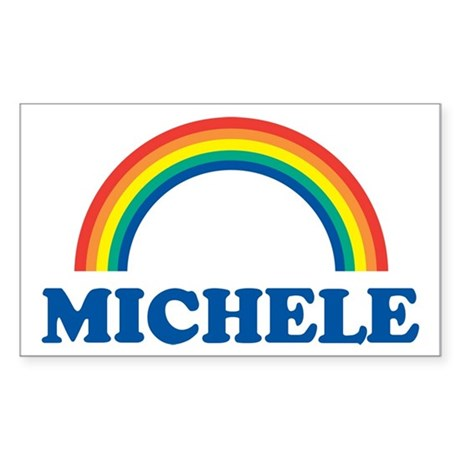 MICHELE (rainbow) Rectangle Sticker