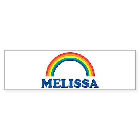 MELISSA (rainbow) Bumper Sticker