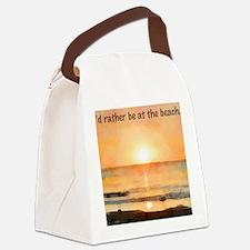 RatherBeAtBeach Canvas Lunch Bag