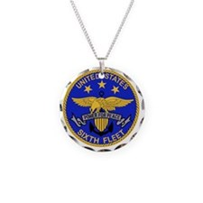 SIXTH FLEET US Navy Military Necklace