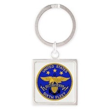 SIXTH FLEET US Navy Military PATCH Square Keychain