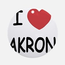 AKRON Round Ornament