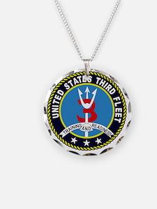 Third Fleet US Navy Military Necklace