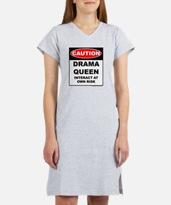 CAUTION Drama Queen Women's Nightshirt