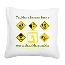 Many-Signs Square Canvas Pillow
