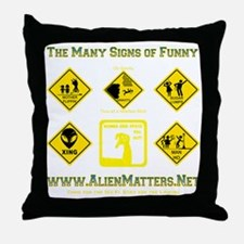 Many-Signs Throw Pillow