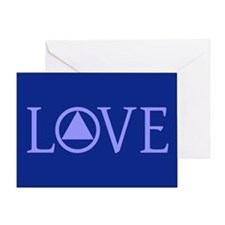 AA Love License Plate Greeting Cards