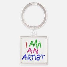 I am an artist Square Keychain