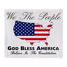 Believe In The Constitution Throw Blanket