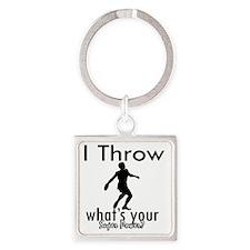 throw Square Keychain