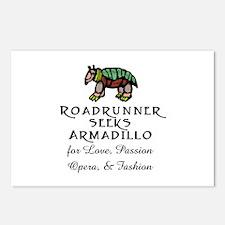 Roadrunner Seeks Armadillo Postcards (Package of 8