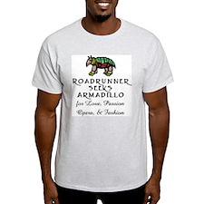 Roadrunner Seeks Armadillo Ash Grey T-Shirt