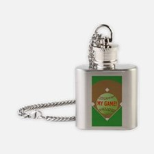 Softball iPhone 4 Slider Case, My G Flask Necklace