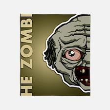 11x17_print_zombie_txt Throw Blanket