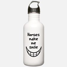 Horses Make Me Smile Water Bottle