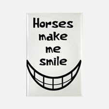 Horses Make Me Smile Rectangle Magnet