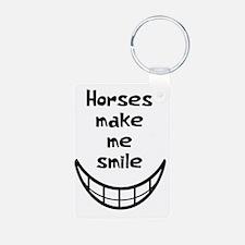 Horses Make Me Smile Keychains