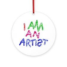 I am an artist light Round Ornament