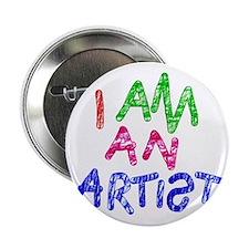 """I am an artist light 2.25"""" Button"""
