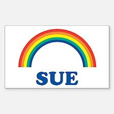 SUE (rainbow) Rectangle Decal
