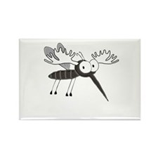 Mosquito Moose Logo Rectangle Magnet