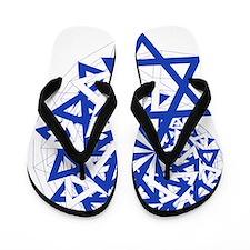 BlueWhite Star of David Flip Flops
