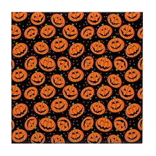 Halloween Pumpkin Flip Flops Tile Coaster