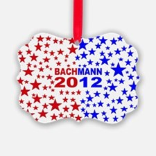 Michele bachmann red and bluebump Ornament