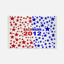 Michele bachmann red and bluebump Rectangle Magnet