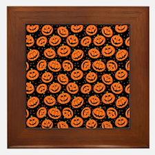 Halloween Pumpkin Flip Flops Framed Tile
