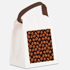 Halloween Pumpkin Flip Flops Canvas Lunch Bag