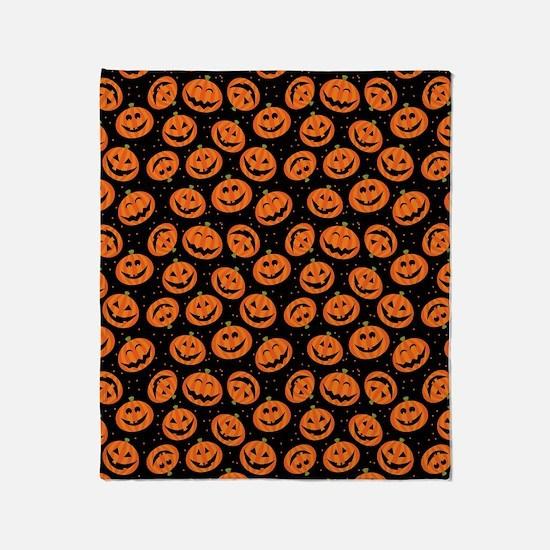 Halloween Pumpkin Flip Flops Throw Blanket
