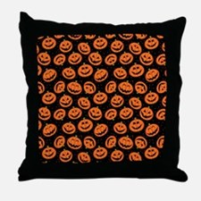 Halloween Pumpkin Flip Flops Throw Pillow