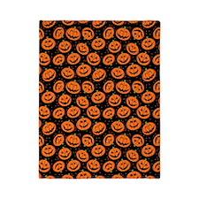 Halloween Pumpkin Flip Flops Twin Duvet