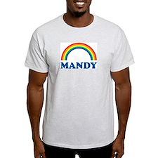 MANDY (rainbow) Ash Grey T-Shirt