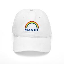 MANDY (rainbow) Baseball Cap