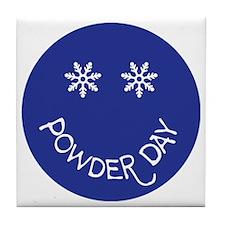powder day face Tile Coaster