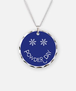 powder day face Necklace