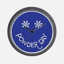 powder day face Wall Clock