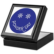 powder day face Keepsake Box