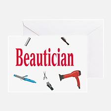 Beautician Greeting Card
