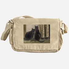 Black Cats Messenger Bag
