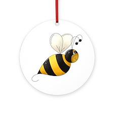 bee1 Round Ornament