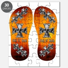 Hell N Back Skull  Flare FlipFlops Puzzle