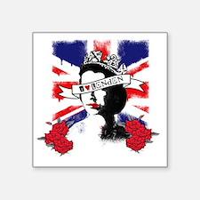 "I LOVE LONDON Square Sticker 3"" x 3"""