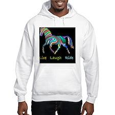 horse rainbow_horselarge live lo Hoodie