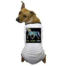 horse rainbow_horselarge live love lau Dog T-Shirt