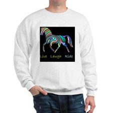 horse rainbow_horselarge live love laug Sweatshirt