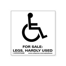 "Leg 4 Sale Square Sticker 3"" x 3"""